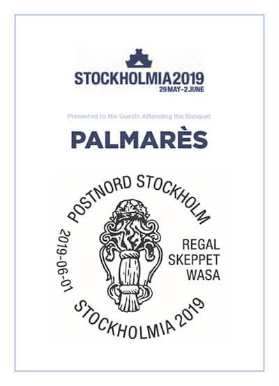 1eb55212 STOCKHOLMIA 2019 Palmarès
