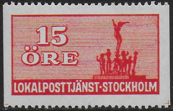 Stockholm local post stamp